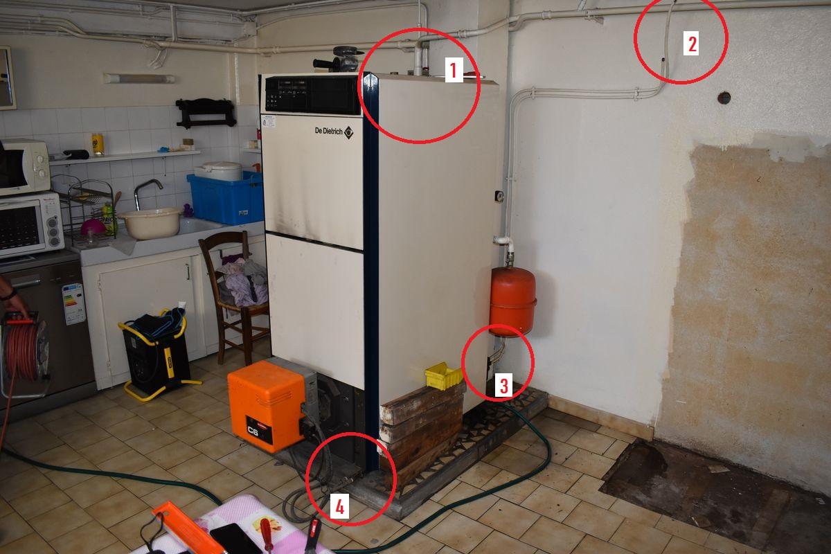 chaudiere fioul avant remplacement par pompe a chaleur